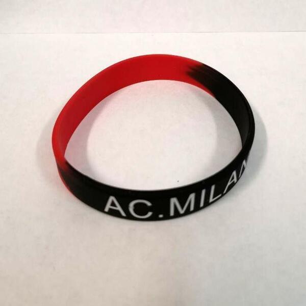 Силиконовый браслет с клубной символикой Милан